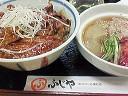 豚丼+冷麺(>_<)
